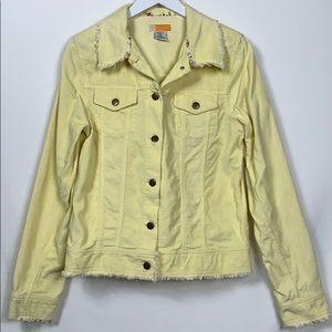 Tulle 100% cotton corduroy yellow jacket size XL